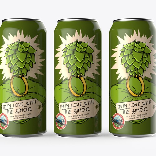 Illustrated can wrap for Brewing Company's newest beer