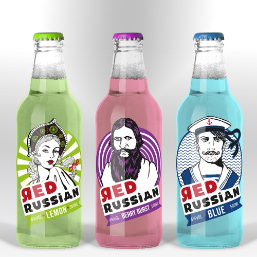 Create a contemporary label design for a ready-to-drink alcopop