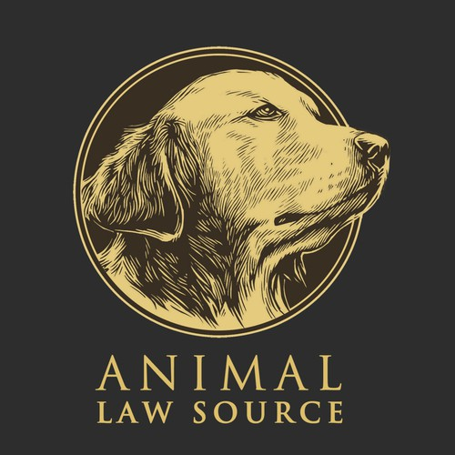 law firm that helps animals logo.