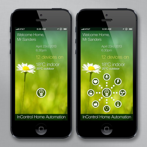Design home automation app to control lights