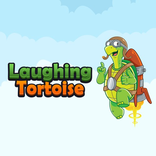 Friendly Turtle Mascot and Logo