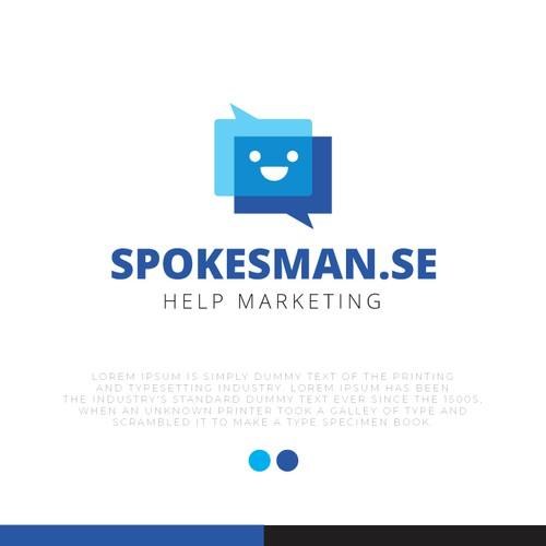 Spokesman logo design
