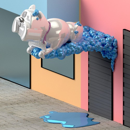 3D Bulldog Design concept for Bulldog Baths San Francisco