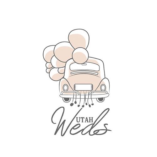 logo for utah weds
