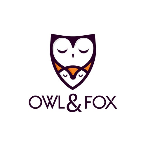 Owl and fox logo