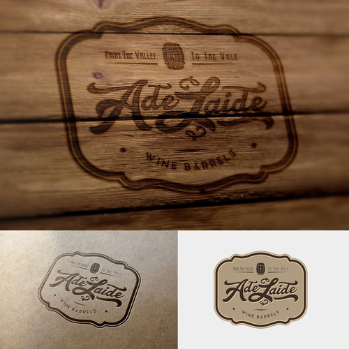 Classic logo for a Wine Barrel business