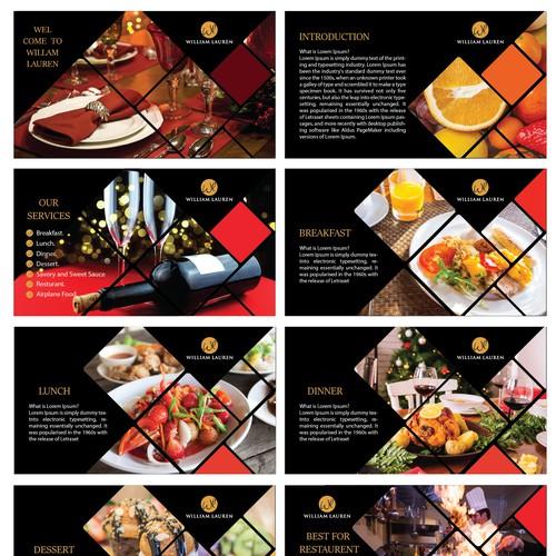 Food menu PowerPoint template.