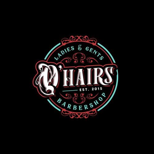 O'Hairs Barbershop Logo - for Pub-like ladies & gents barbershop