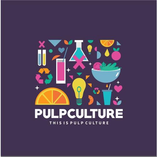 Logo concept for pulp culture