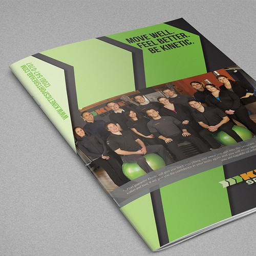 Brochure design for Kinetic Sports Rehab