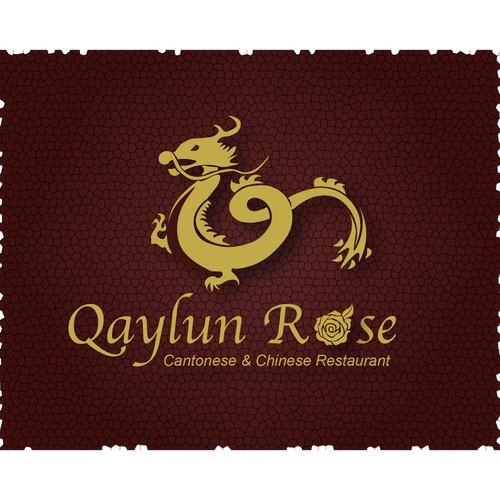 Qaylun Rose Restaurant Logo Concept 2