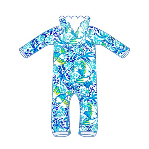 Bold bright pattern for baby clothing