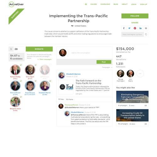 Page design for social platform