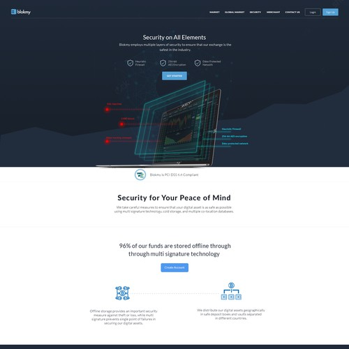 Blokmy Security page design