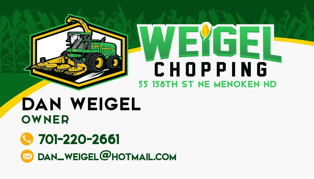 Weigel chopping business card