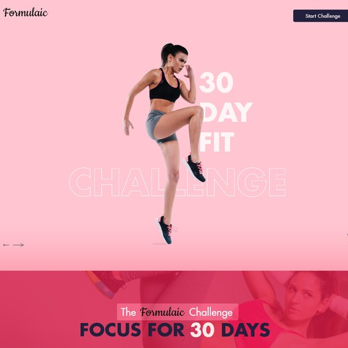 Bold Vibrant Landing Page for Formulaic