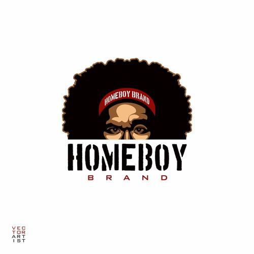 Homeboy Brand Logo and T-shirt Design
