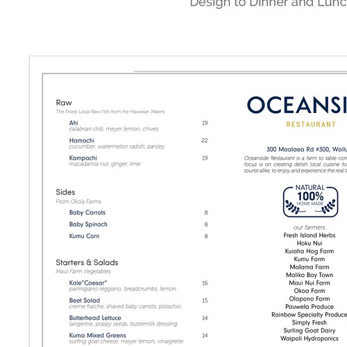 Menu Oceanside