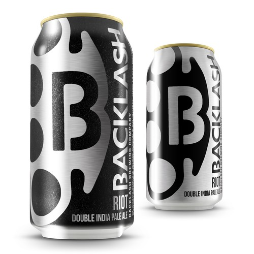Bold can design for Backlash Beer