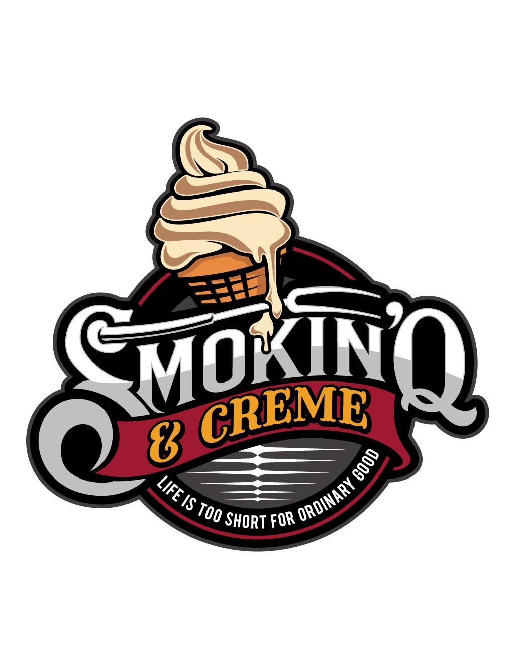 BBQ & Ice Cream Food trailer needs a new logo identity
