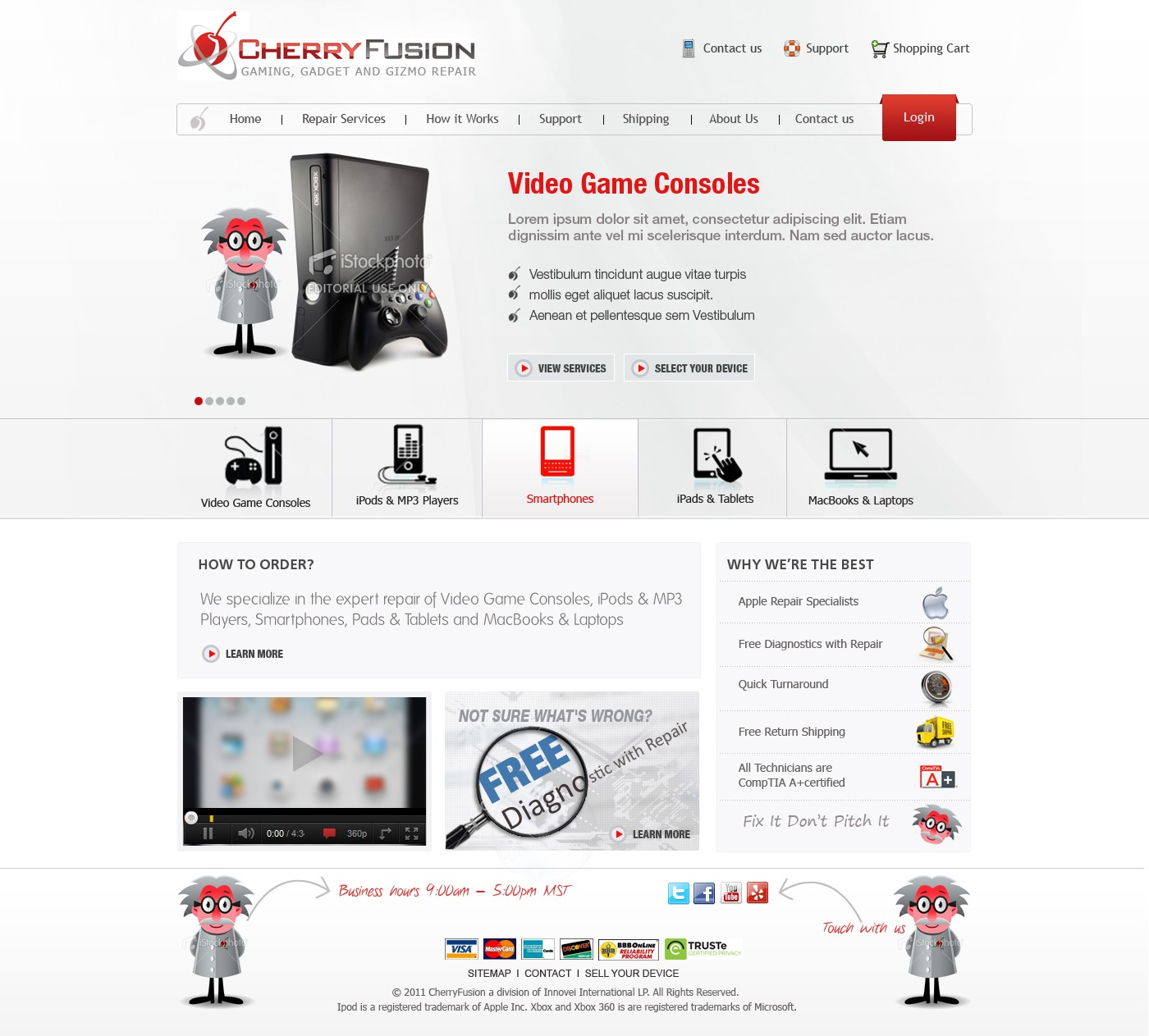 Create the next website design for Cherry Fusion