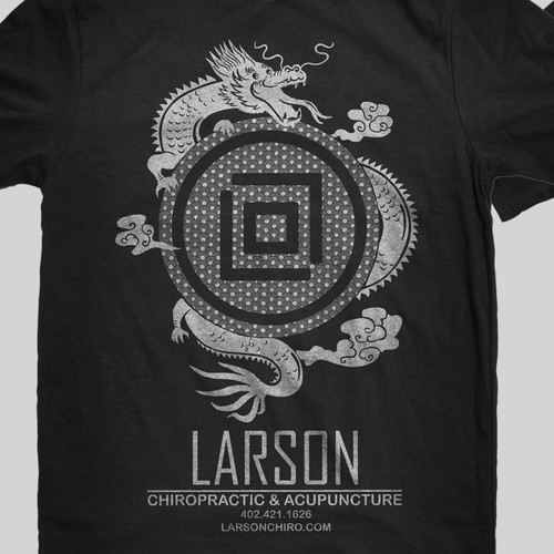 Create an awesome t-shirt for Larson Chiropractic & Acupuncture.