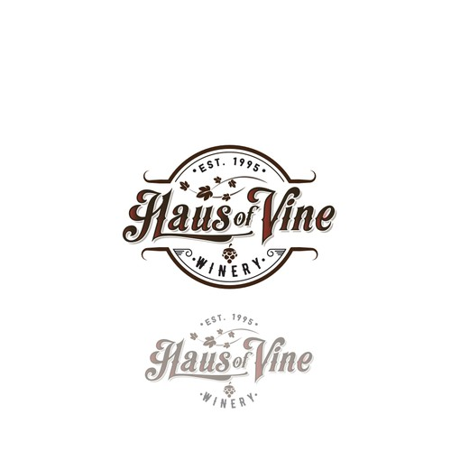 vintage logo for a winery