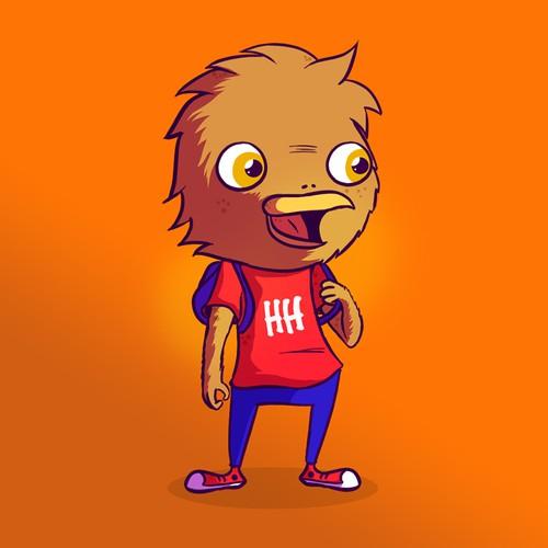 Kid friendly Hawk mascot