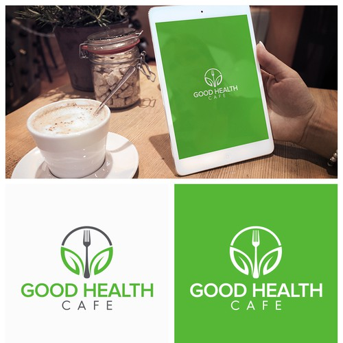 Logo Concept for Healthy Food Cafe