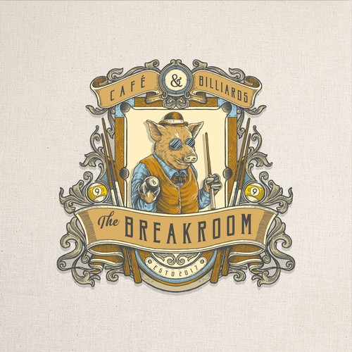 victorian logo badge for The Breakroom