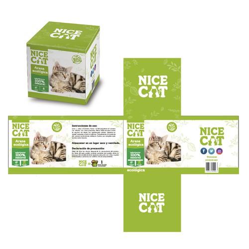 Box  ecological sand NICE CAT