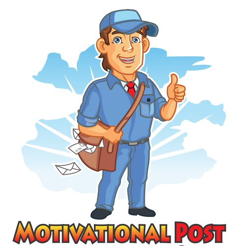 make me a cartoon logo for motivationalpost.com