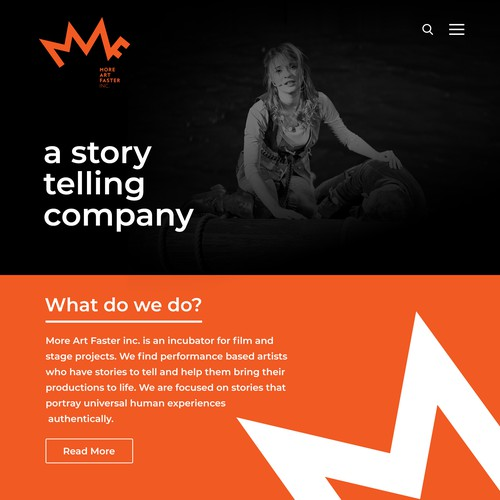 Drama Theater Website Design