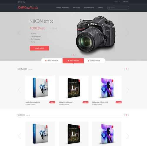 Create a website for SellMorePrints.com!