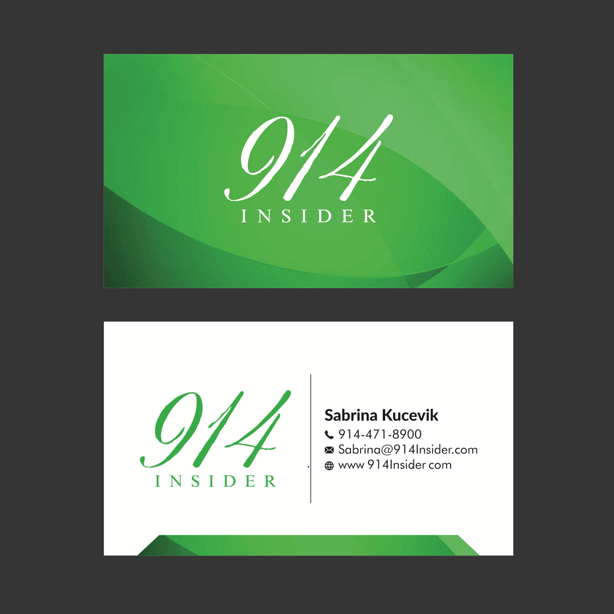 update business cards