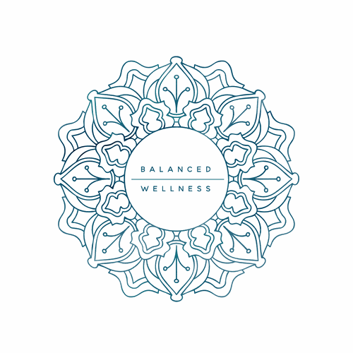 Mandala style logo for a wellness center