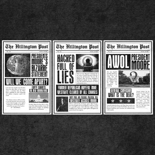"""Newspaper cover sheets for the book """"The Last Plan"""""""