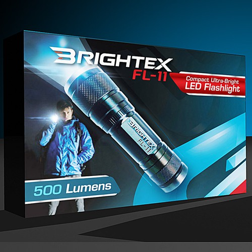Product Packaging for a New Flashlight Brand