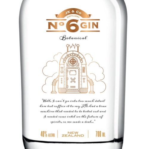 Label for Botanical Gin