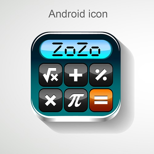 Create an outstanding icon for a mobile calculator app