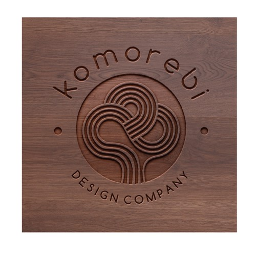 Clean and symbolic logo for hand made contemporary wood furniture