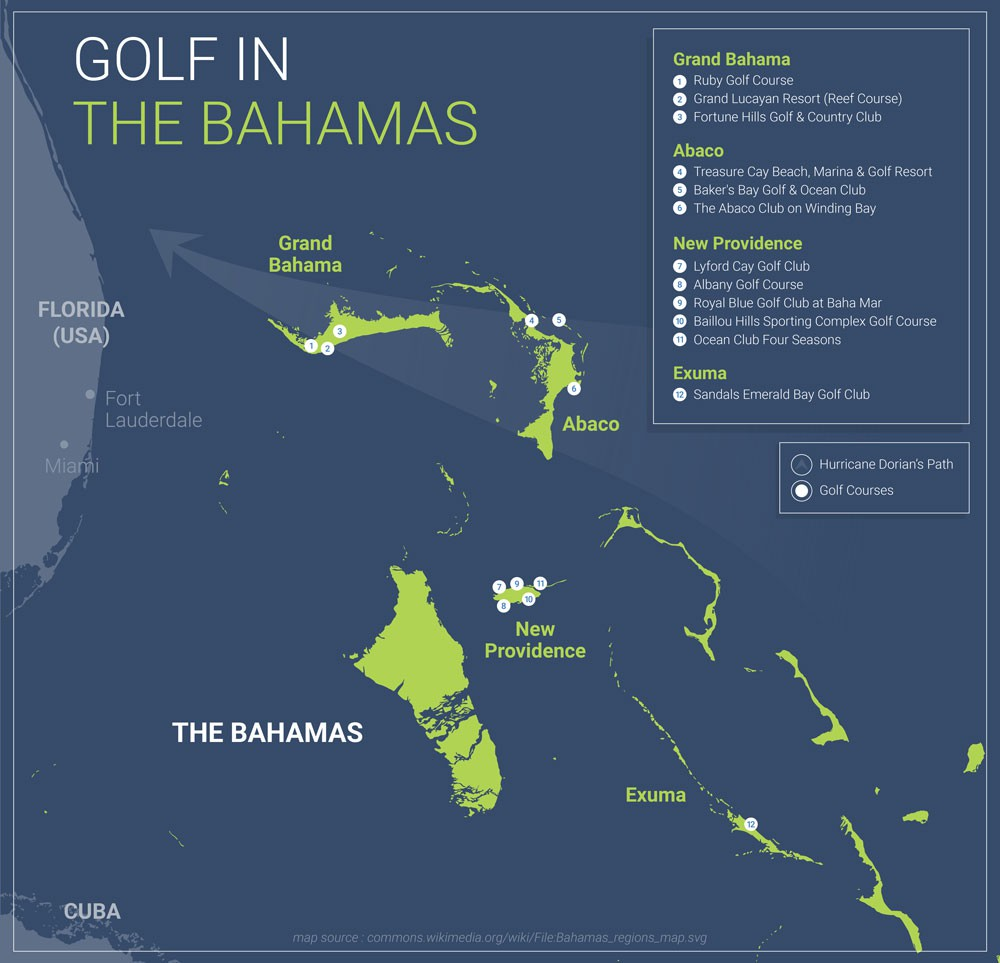 Bahamas Golf Map
