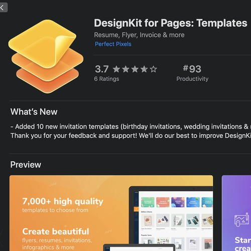 Beautiful MacOS Icon for TemplateKit for Pages: Templates