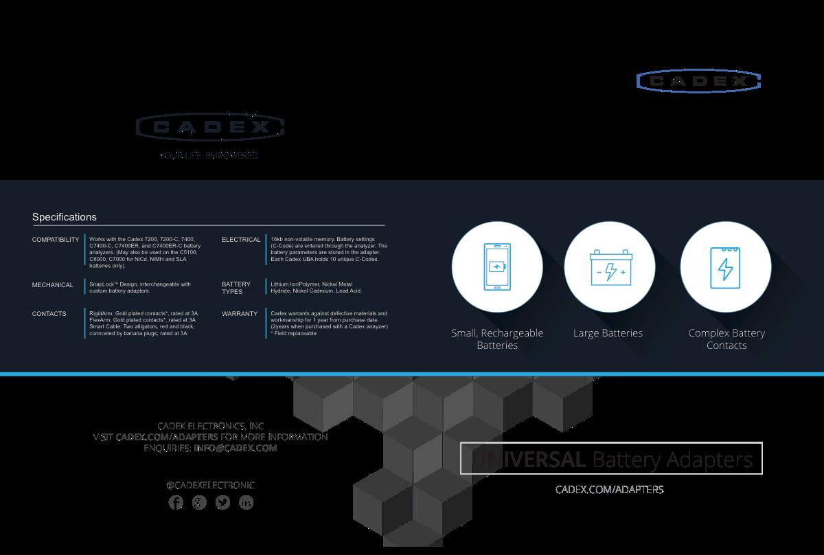 Universal Adapters Brochure