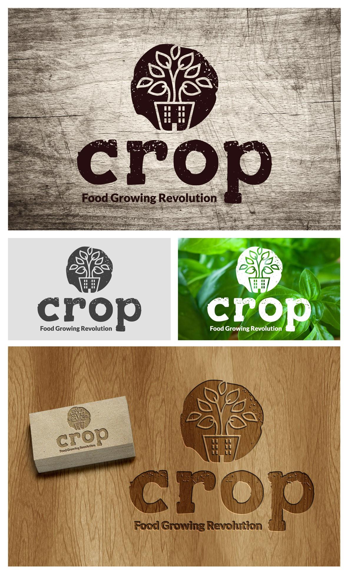 The super fantastic food Revolution! Create a logo for a fun, modern, urban growing store.