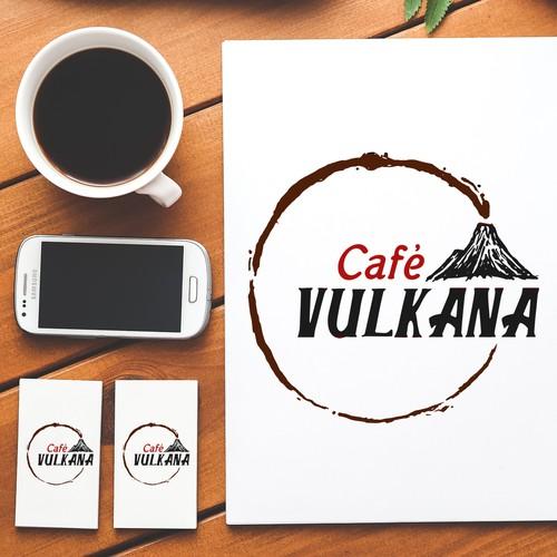 Cafe Vulkana Logo Concept