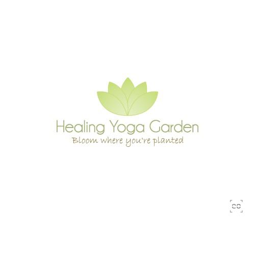 Create the next logo for Healing Yoga Garden