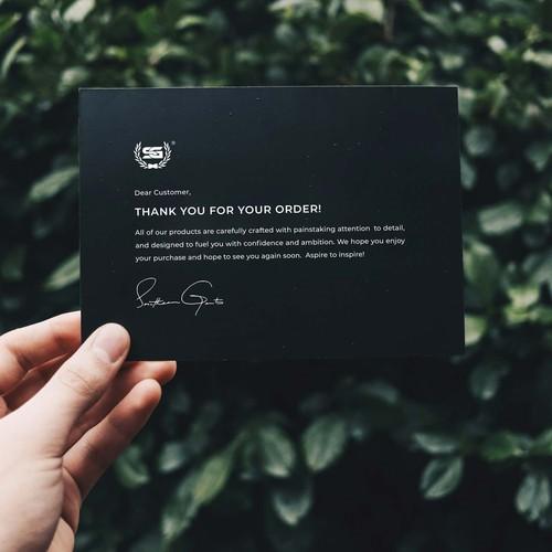 Minimal Luxury Thank You Card