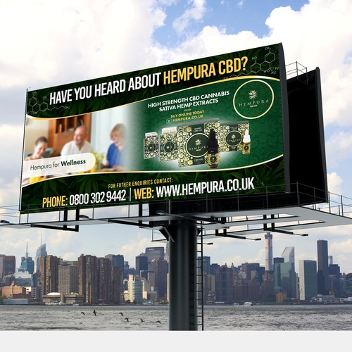 Billboard Design for Hempura CBD
