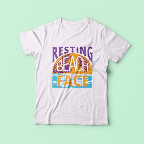 """""""Resting Beach Face"""" T-Shirt"""